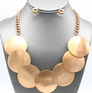 Disc Necklace Set